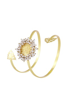 Gold finish cutwork cuff