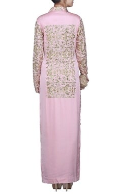 Blush pink gota embroidered jacket kurta