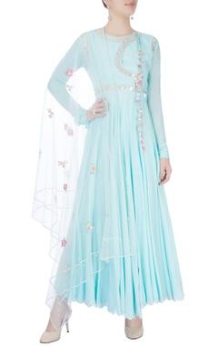light blue sequin embellished anarkali