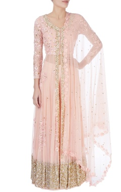 rose pink sequin embellished lehenga