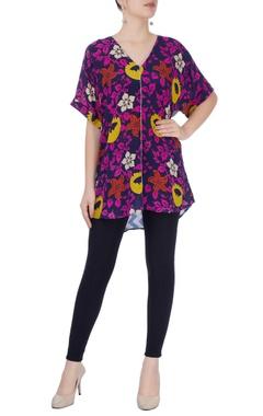 Multicolored floral blouse