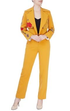 Mustard yellow jacket and pants
