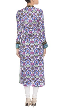 Pink & purple ethnic print kurta