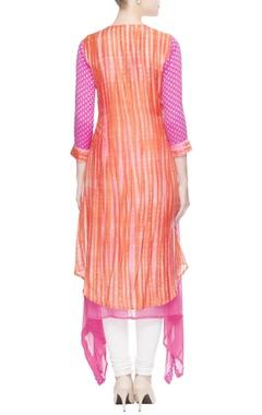 Orange & pink layered kurta