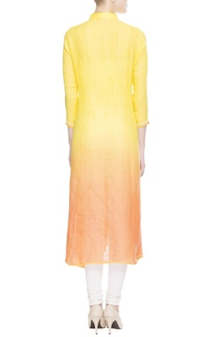 Yellow & orange long kurta