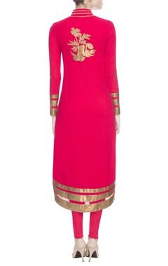 Red & gold kurta set
