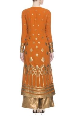Orange & gold kurta set