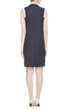 Black shoulder embellished dress