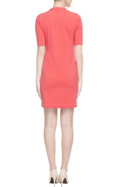 Coral red skull print dress