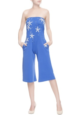 Blue starfish patterned jumpsuit