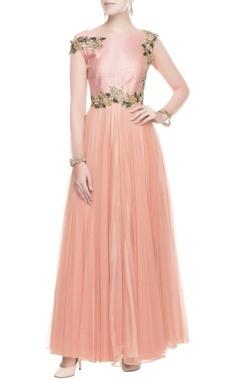 Pastel pink embellished gown
