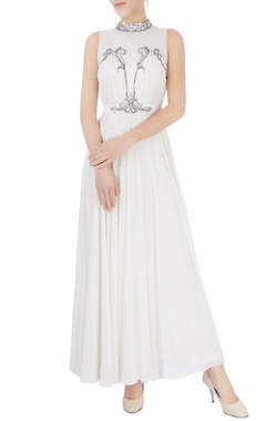 White embellished gown