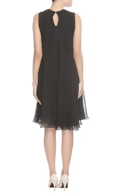 Black dress with embroidery