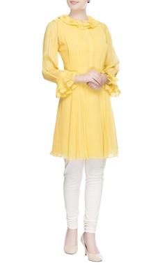 Yellow ruffle style tunic