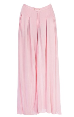 Light pink wide leg trousers