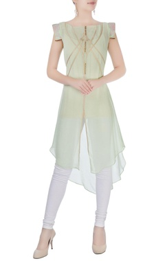 Light green asymmetric kurta