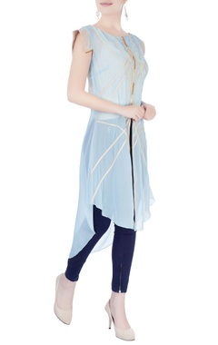 Light blue asymmetric kurta