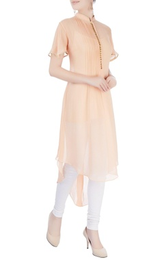 Light orange asymmetric kurta