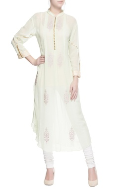 Pastel green embroidered kurti