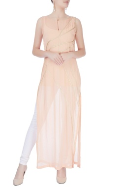 Peach long kurta
