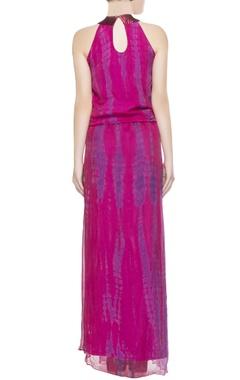 Pink tie & dye gown