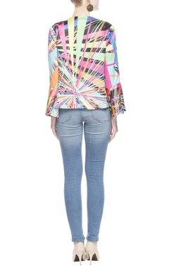 Multicolored kaleidoscopic print blouse