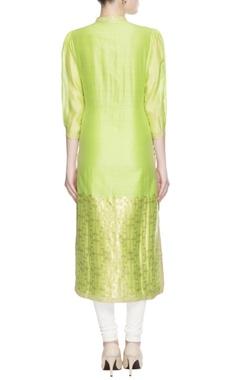 Green printed kurta