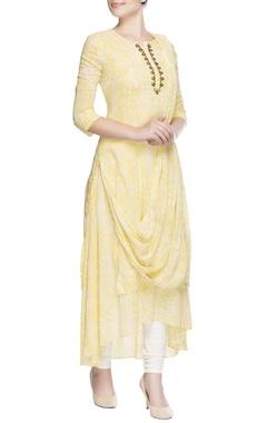 Yellow draped style tunic