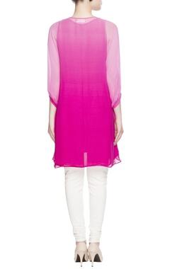 Pink embellished collar tunic