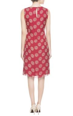 Red rose short dress