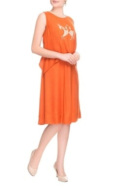 Burnt orange knee length tunic