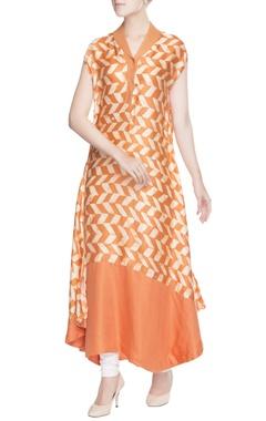 Orange printed tunic