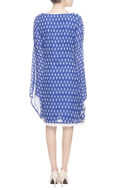 Blue & white printed dress