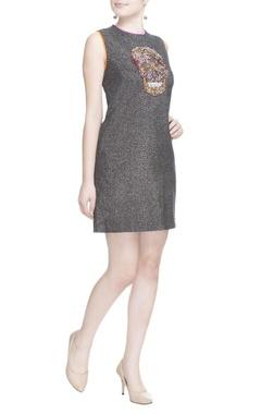 Grey embellished skull dress