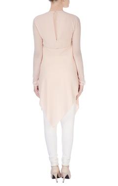 pink asymmetric style kurta
