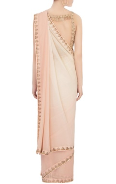 baby pink embroidered sari with blouse