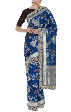 Manish Malhotra Banarasi sari with unstitched blouse piece