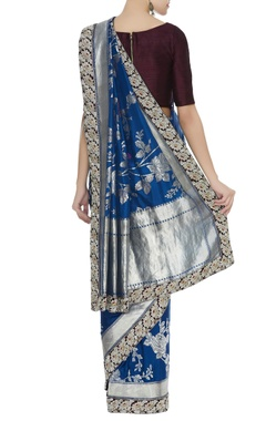 Banarasi sari with unstitched blouse piece