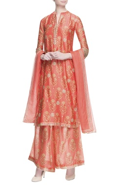 MEHRAAB Orange floral printed kurta set