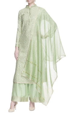 Light green gota work kurta set