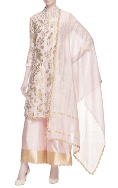 Light pink gota work kurta set