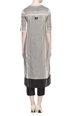 grey stripe pattern kurta