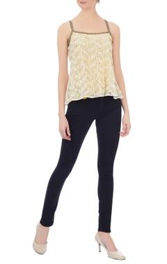 ivory net lace blouse