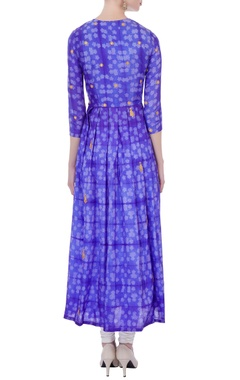 blue silk shibori dyed kurta