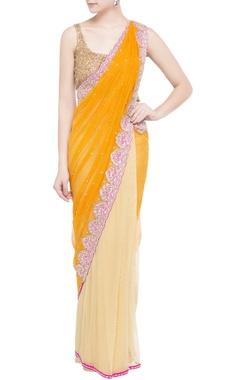 yellow & gold embellished sari