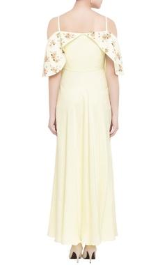 lemon yellow spaghetti strap gown