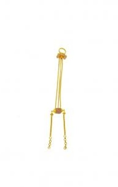Gold finish pearl  & rose haathphool