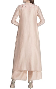 Light pink shaded embroidered tunic