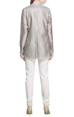 Grey & ivory motif printed tunic