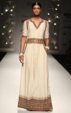 ivory kutch tribal  shirt dress